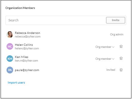 Manage organization members