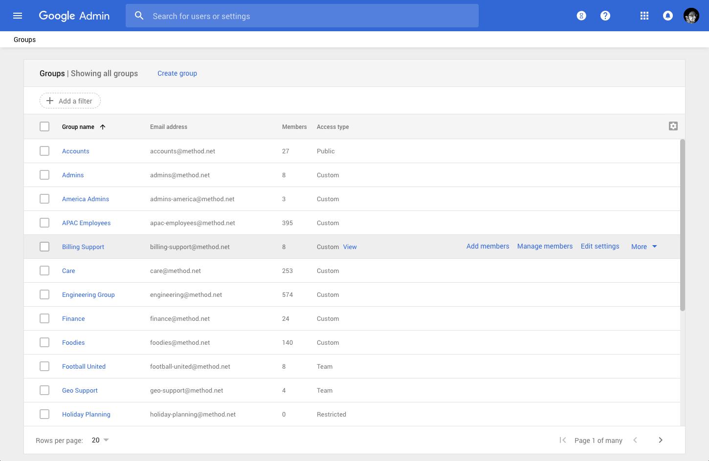 Adding Gmail group