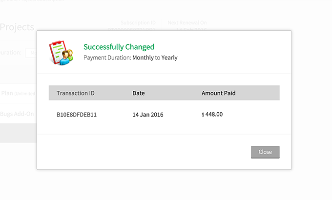 how to change skillshare payment type to monthly from yearly